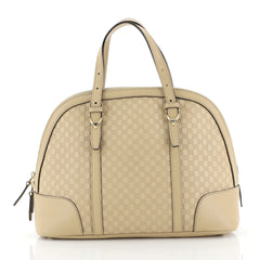 Gucci Nice Top Handle Bag Microguccissima Leather Small Neutral 438453