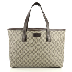 Gucci Plus Tote GG Coated Canvas Medium Brown 4397001