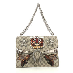 Gucci Dionysus Bag Embroidered GG Coated Canvas with Python Medium Brown 440691