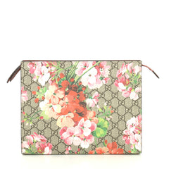 Gucci Toiletry Pouch Blooms Print GG Coated Canvas Large Print 441441