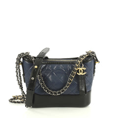Chanel Gabrielle Hobo Quilted Aged Calfskin Small Black 4420211