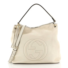 Gucci Soho Convertible Hobo Leather Large Neutral 442091