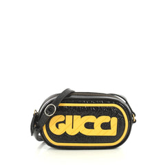 Gucci Game Patch Crossbody Bag Patent Black 4430410