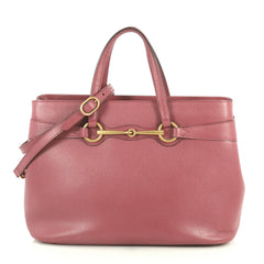 Gucci Bright Bit Convertible Tote Leather Medium Pink 4430413
