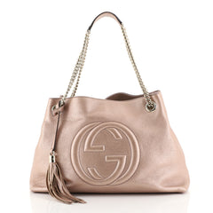 Gucci Soho Chain Strap Shoulder Bag Leather Medium Pink 4447195