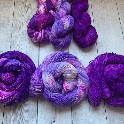3 skein Shawl Kit™ Speckled/Kettle dyed Sock/fing - 1389 yds RTS (225)