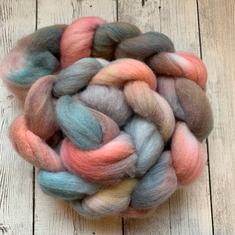 PINK BEACHES PALE WATER™ - Polwarth Wool Top -  4.2 oz (319)