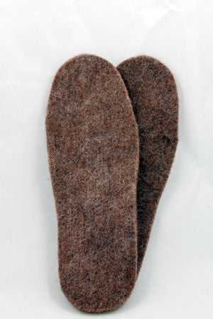100% Alpaca Felted Boot Inserts - Choose from 4 sizes