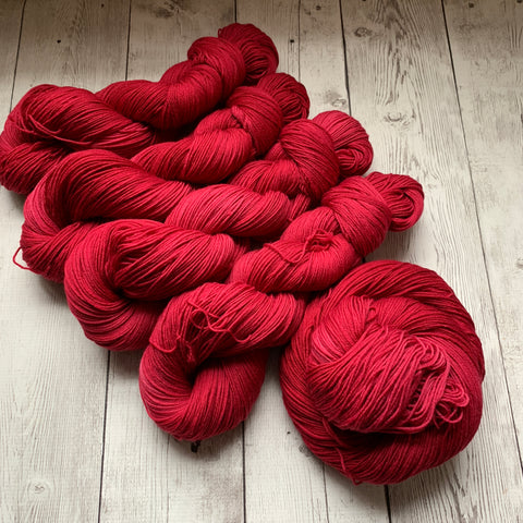 Doctor Who goes to Westeros™ (RED WEDDING) Semi-Solid Kettle Dyed Fing/ Sock weight - 463 yds 3.5 oz RTS (110)