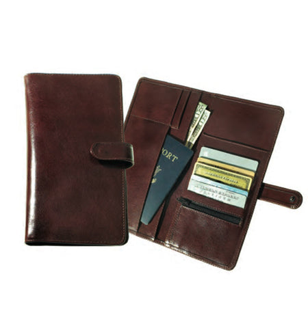 117 - Deluxe Travel Wallet with Snap Closure
