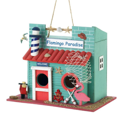 Flamingo Paradise Bird House