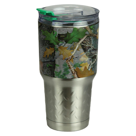 Green Camouflage 24 Oz Stainless Steel Tumbler