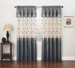 Carmen Embroidered Window Curtain