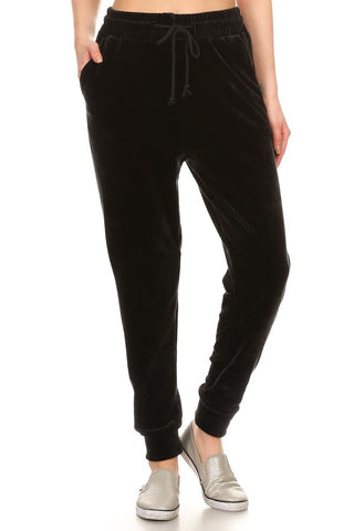 Velour Jogger Pants With Pockets #6270