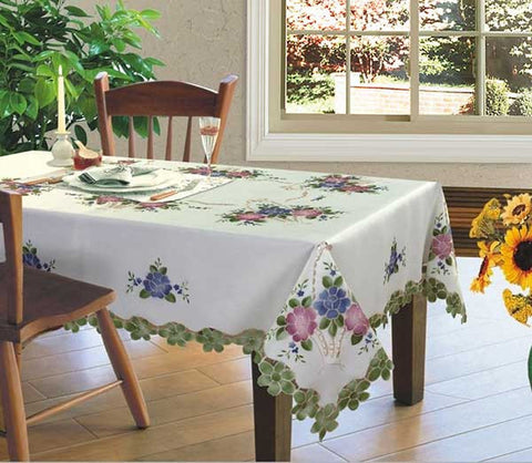Embroidered Airbrush Table Cloth