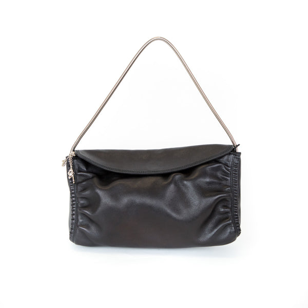 Ferragamo | Black Metal Strap Shoulder Bag