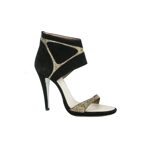 Rene Caovilla | Black Suede High Heel Sandals