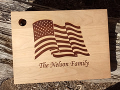 Personalized USA Flag Cutting Board