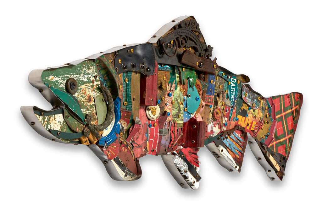 Brook Trout Mixed Media Wall Sculpture
