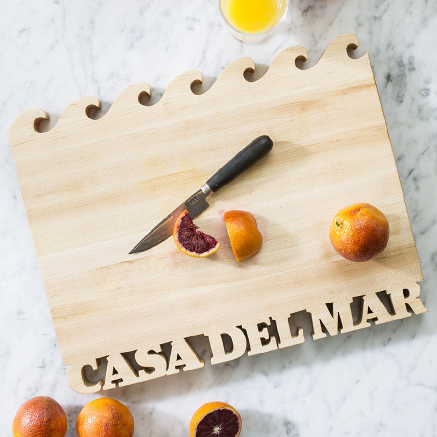 Personalized Cutting Board ~ Waves