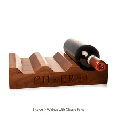 Wood Wine Rack ~ CHEERS! - Words with Boards  - 2