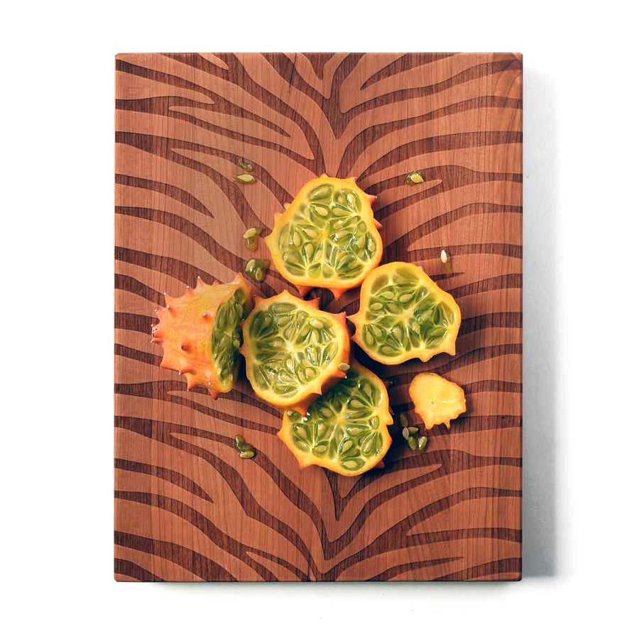 Zebra Print Serving Board