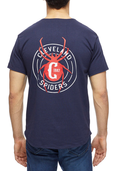 Cleveland Spiders - Navy/Red - Baseball Jersey