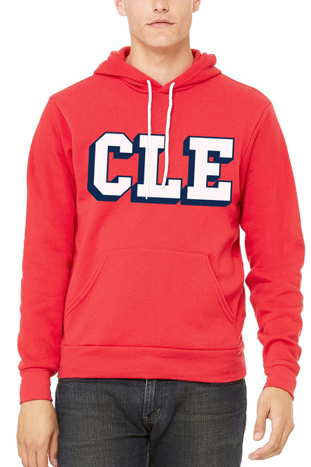 CLE Logo Cable Knit Beanie - Navy