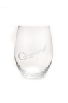 Cleveland Script Stemless Wine Glass