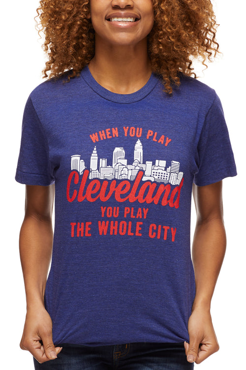 When You Play Cleveland... - Navy/Red - Unisex Crew