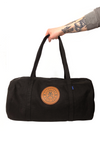 Baggu Canvas Duffel Bag with CLE Logo Leather Patch