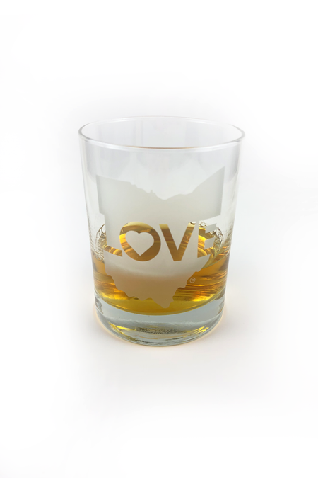 Akron Love Stemless Wine Glass