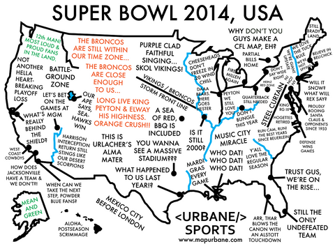 2014 Super Bowl: A Nationwide Guide for the Big Game