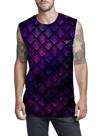 Noctum X Truth - Galactic Dragon Scale Purple Men's Muscle Tank