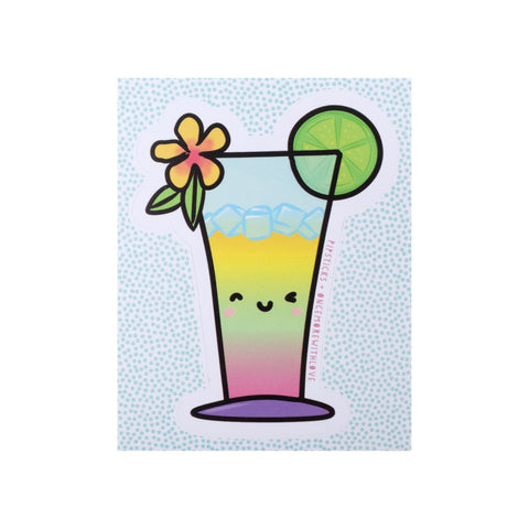 Once More With Love Tropical Drink Vinyl PipSticker