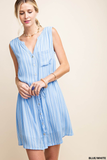 sleeveless shirt dress