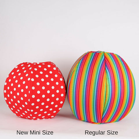 The Mini Cat Ball is sized for kittens or cats around 9 pounds or less