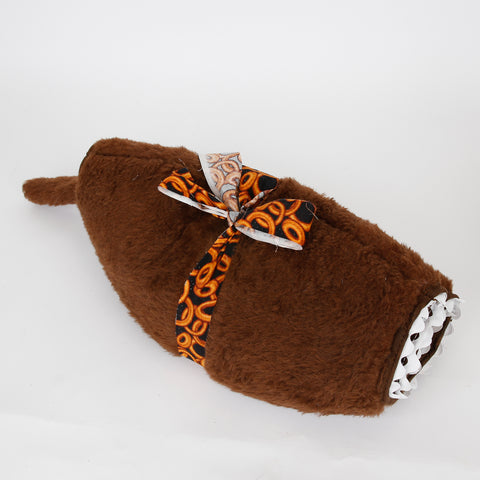 Hairy Dog novelty design Cat Ball cat bed - chocolate lab