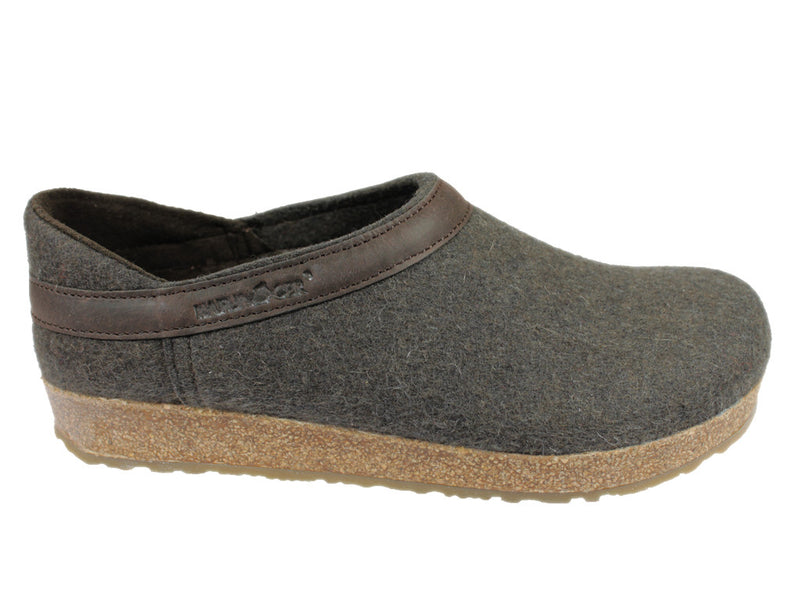 Haflinger Clogs Grizzly Buffalo Brown