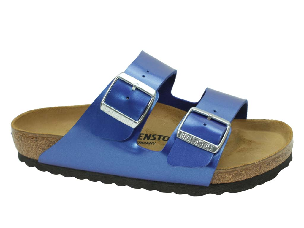 Birkenstock Sandal Arizona Electric Blue side view