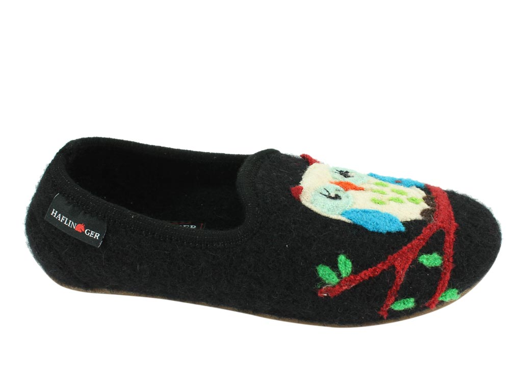Haflinger Slippers Charlie Olivia side view