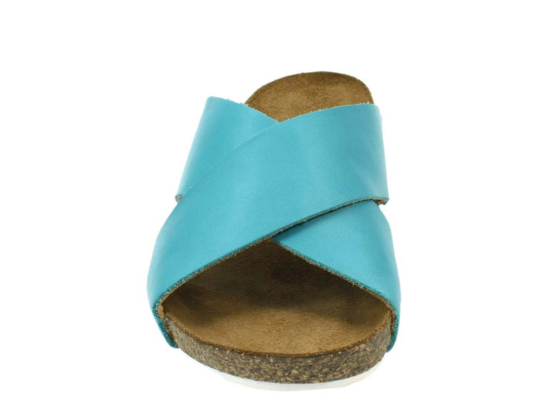 Haflinger Sandals Mio Turquoise front view