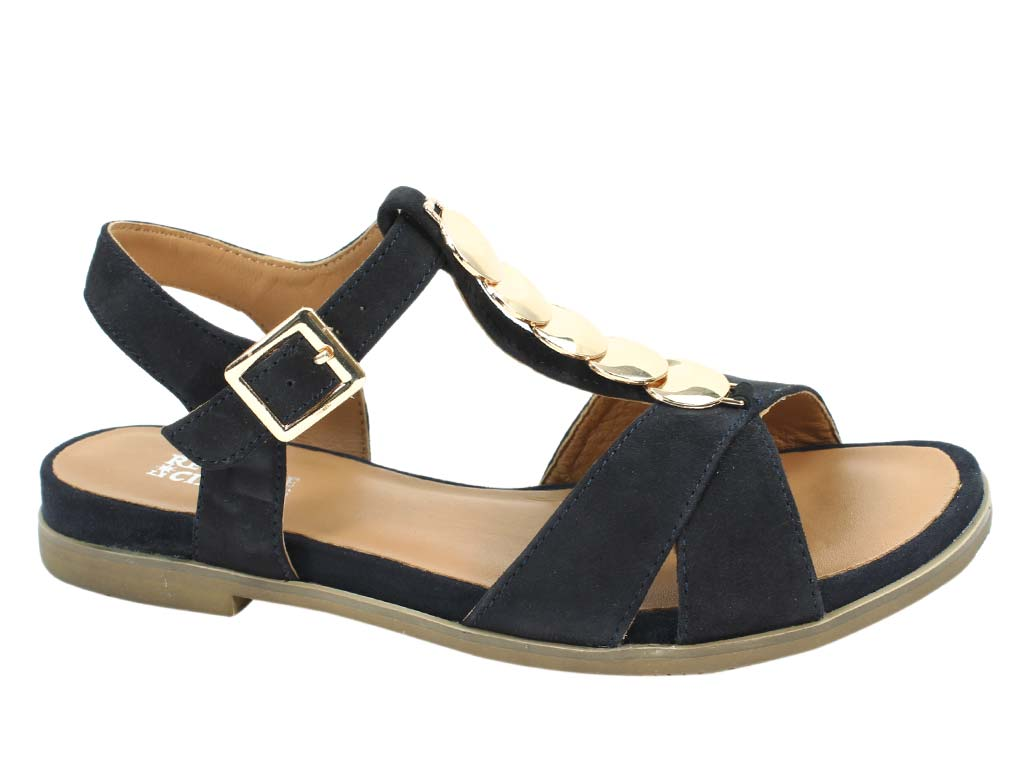 Regarde le Ciel Sandals Nelly Navy side view