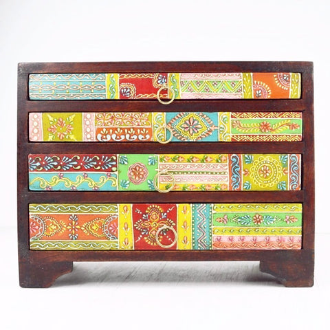 4 drawer hand painted chest