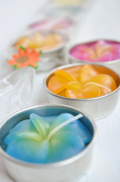 Frangipani Candles - Gift Set of 5