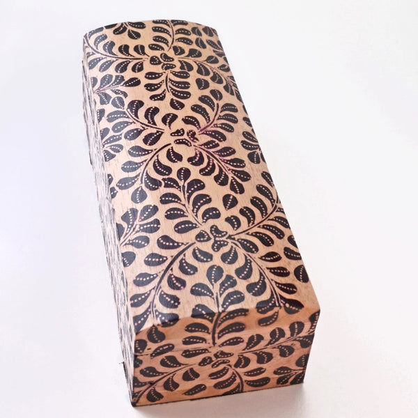 Batik Box - Handcrafted wooden box, useful box for jewelry or keepsakes.