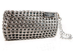 Recycled pull tab OPERA CLUTCH