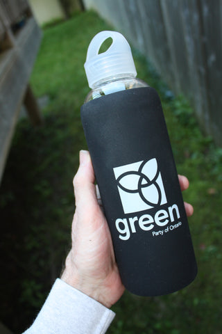 GPO Glass Waterbottle - Black