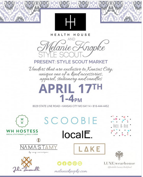 Pop-Up-Shop On April 17th at Health House - A Style Scout Event!