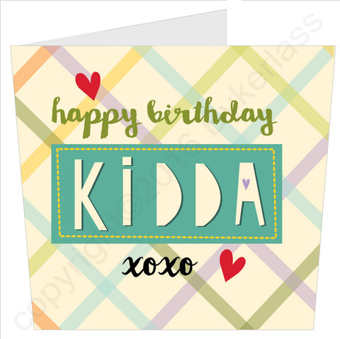 Happy Birthday Kidda Card (MB43)